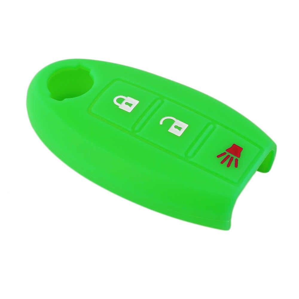 سيليكون 3 زر سيارة حقيبة غطاء للمفاتيح لنيسان Teana X-Trail قاشقاي ليفينا سيلفي تيدا صني مارس مورانو Geniss Juke