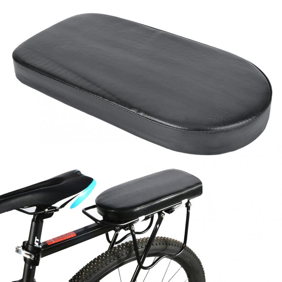 Bike Bicycle Rear Seat Mat PU Leather Adults Children Seat Rack Soft Cushion Pad