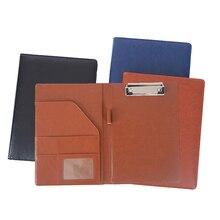 Cartella per appunti A4 portafoglio multifunzione in pelle Pu Organizer robusto Office Manager Clip blocchi per scrivere contratto di carta legale