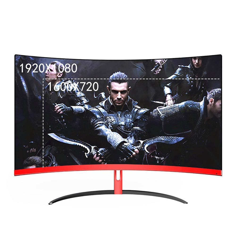 Monitor LCD para juegos curvo de 32 pulgadas Wearson, 2mm, sin bisel lateral, entrada HDMI VGA, sin parpadeo para el cuidado de los ojos|Monitores LCD|   - AliExpress
