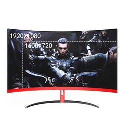 Wearson 32 zoll Gebogene Gaming Monitor LCD 2mm Seite Lünette-Weniger HDMI VGA eingang Auge Pflege Flimmern Freies
