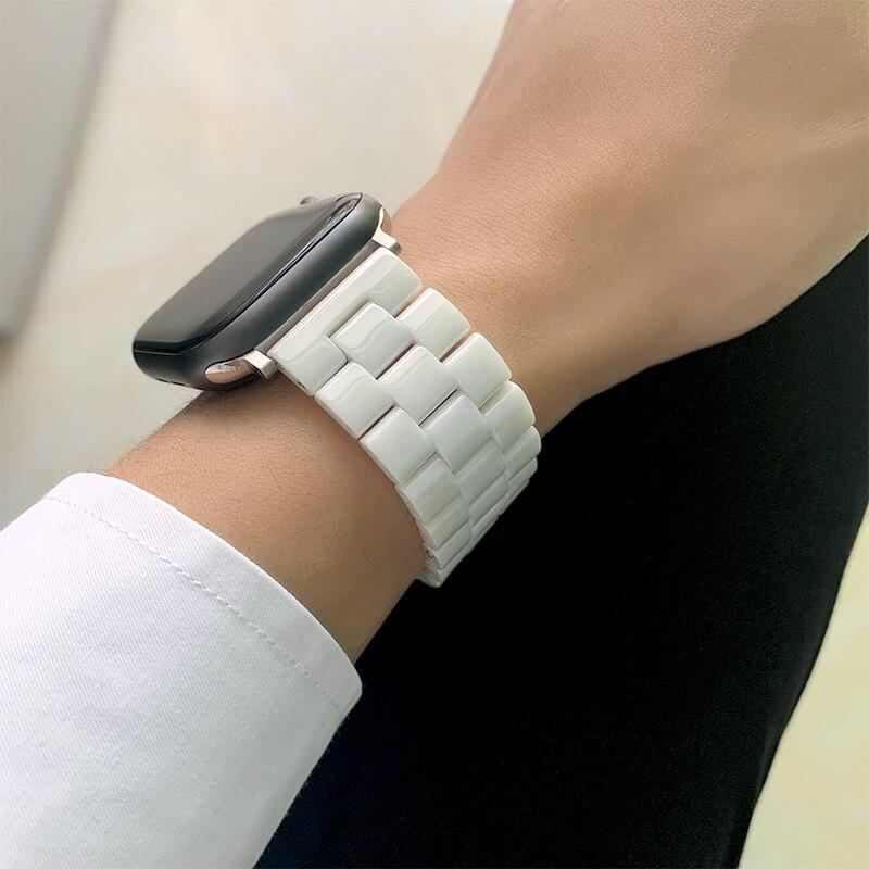 Новейшая коллекция; Керамика, браслет для Apple Watch, 38 мм, 42 мм, 40 мм, 44 мм, ремешок для iwatch, серия 4, 3, 2, 1, серия 5 Ремешки для часов      АлиЭкспресс