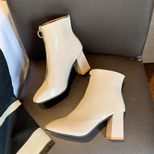 купить Sexy Boots High Heels Ankle Boots For Women Elegant White Boots Winter Autumn Boots 2019 Ladies Fashion Black Woman Shoes Boots дешево