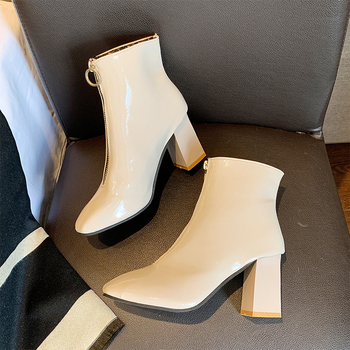 Sexy Boots High Heels Ankle Boots For Women Elegant White Boots Winter Autumn Boots Ladies Fashion Black Woman Shoes Boots punk boots women pumps winter autumn shoes women black boots high heels motorcycle women ankle boots white platform boots d244