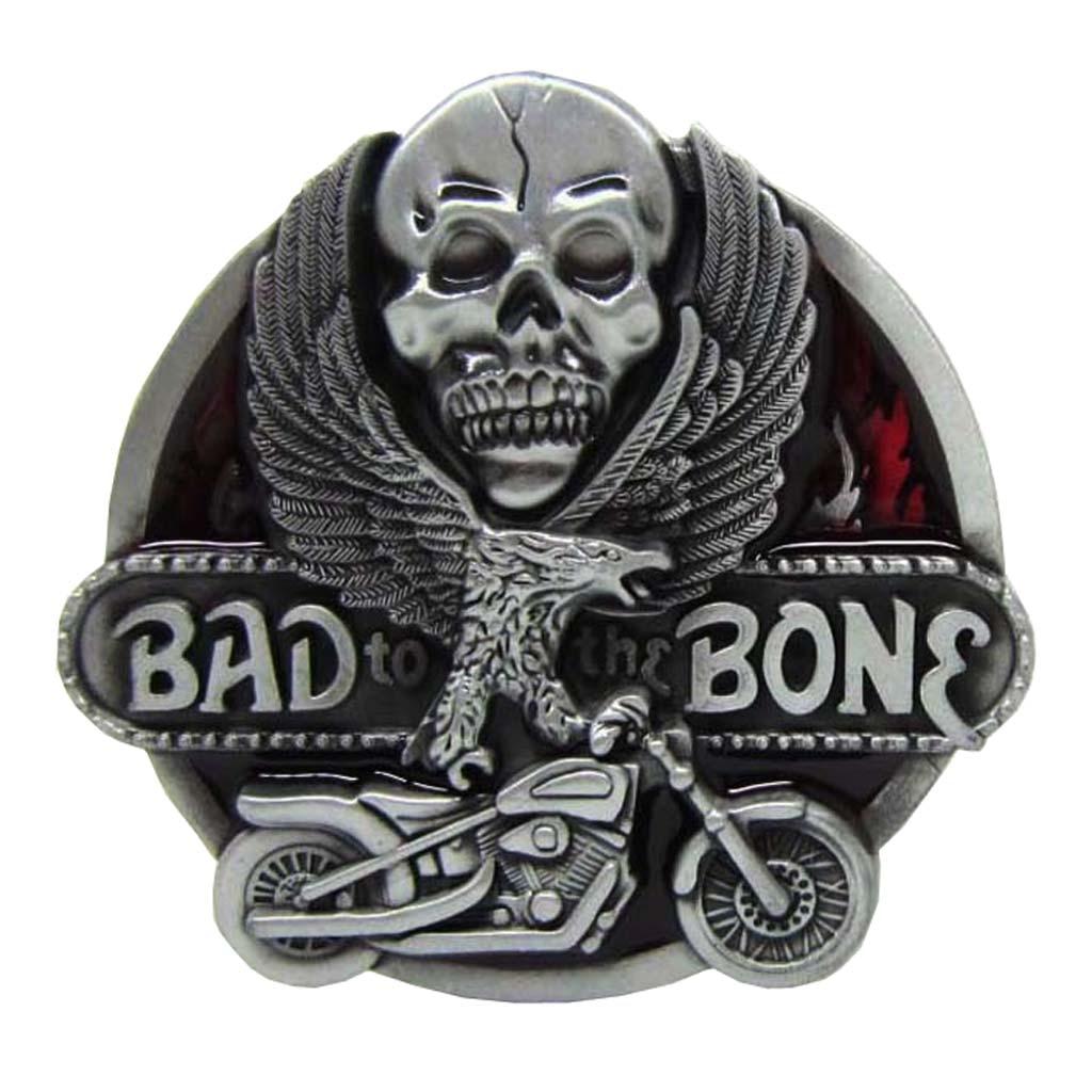 Skeleton Skull Flying Eagel Motorcycle Metal Belt Buckle Cowboy