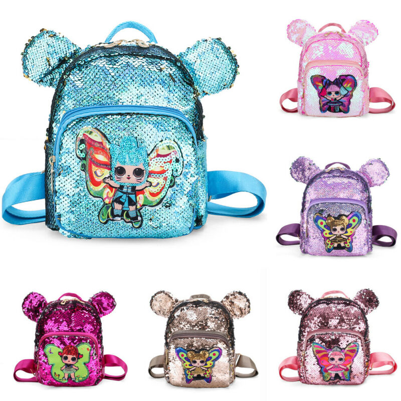 2019 Lovely New Child Nursery School Bag Kids Girls Cartoon Sequins Backpack Lightweight Kindergarten Rucksack