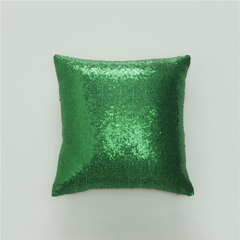 Green Sequin Throw Pillow 2