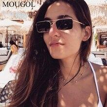MOUGOL Vintage Sunglasses Men Women Brand Designer Rectangle Metal Sun Glasses Ladies Small Retro Shades Eyewear UV400