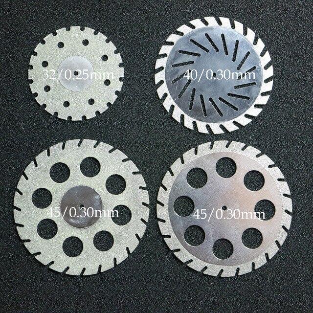 Disque de coupe Zigzag Double face de diamant de laboratoire dentaire pour loutil de laboratoire dentaire de roue de disque de plâtre de coupe dentaire