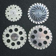 Laboratório dental diamante dupla face ziguezague disco de corte para a roda de disco de gesso de corte dental ferramenta laboratório dental
