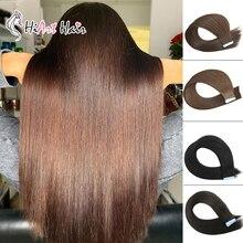 HiArt волосы для наращивания на ленте натуральные человеческие волосы remy двойная лента натуральные волосы для наращивания прямые волосы на ленте прямые волосы
