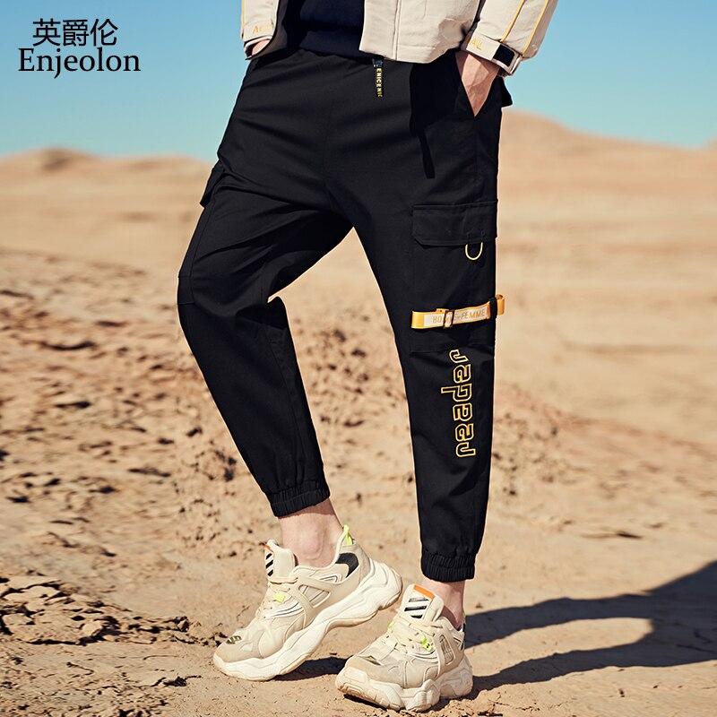 Enjeolon Autumn Winter New Cargo Harem Jogger Pants Men Hip Hop Fashion Casual Track Trousers Streetwear Sweatpants K6872