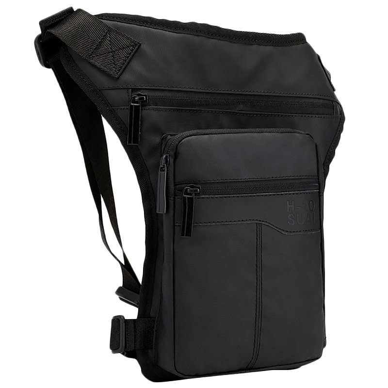 ABZC-Motorcycle Hip Belt Waist Fanny Pack Riding Travel Shoulder Messenger Cross Body Bags Oxford Cloth Men Thigh Drop Leg Bag