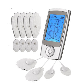 Rechargeable 16 Modes Electronic Pulse Massager EMS TENS Unit Muscle Stimulator Pain Relief Therapy with 12pcs Electrode Pads