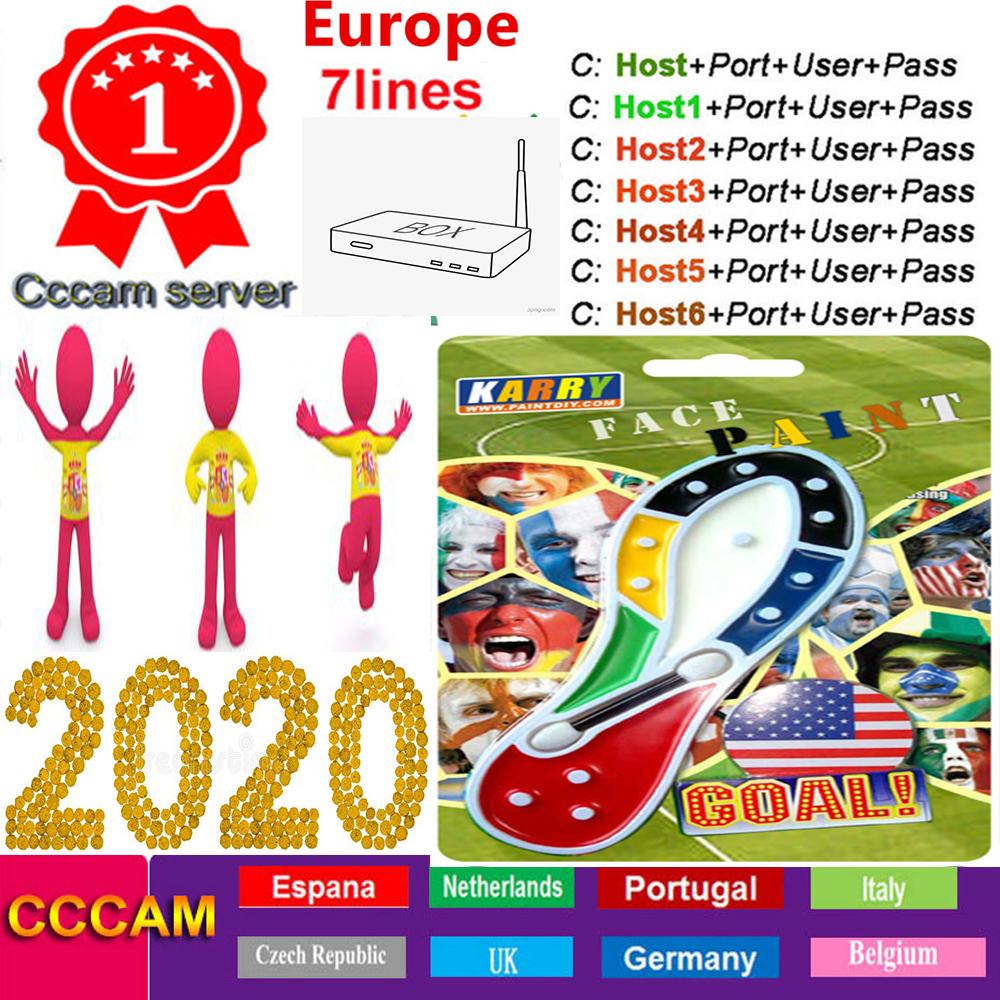 Cccam Europa Server 1year 7lines Spain Italy Support Satellite TV Receiver DVB-S2 Valid Best HD Freesat V8 Super Europe 7 Clines