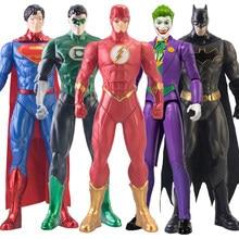 30cm DC Justice League Superman The Joker Flash Batman Green Lantern Batman Harley Quinn Doll Action Figure Toy For Children