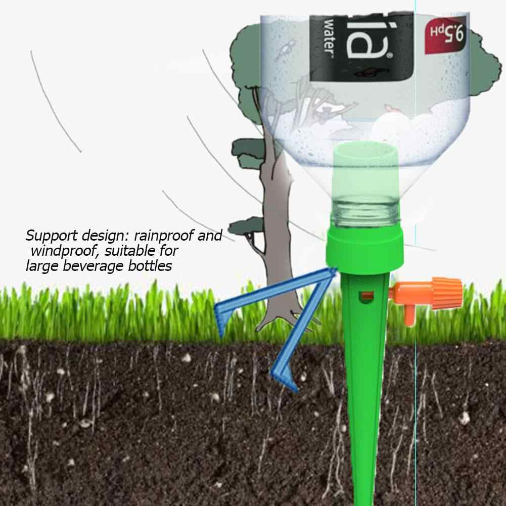12 Pcs Auto Irigasi Tetes Penyiraman Sistem Otomatis Penyiraman Spike untuk Tanaman Bunga Rumah Tangga Waterers Botol Irigasi Tetes