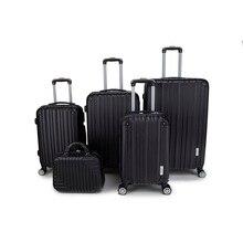 Conjunto de 5 maletas de colores de 8 ruedas giratorias