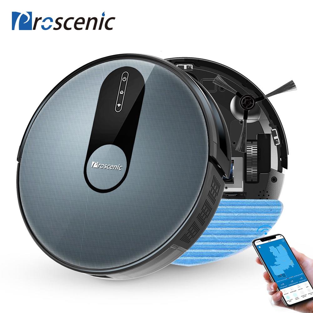 Proscenic Robot-Vacuum-Cleaner Route Smart-Robot Washing Home-App 1800pa 3in1 with Wet-Cleaning
