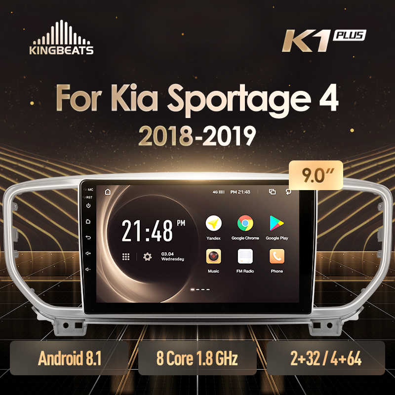 KingBeats Android 8.1 unità di testa 4G in Dash Car Radio Multimedia Video Player di Navigazione GPS Per Kia Sportage 4 QL 2018 2019