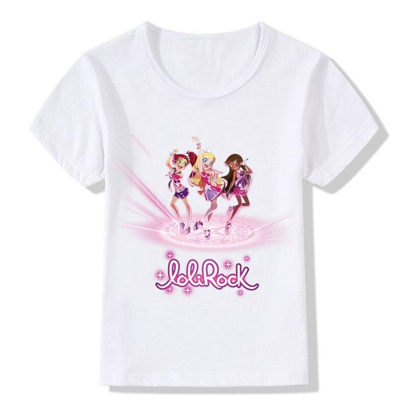 Children LoliRock Magical Girl Funny T-shirt Boys Girls Anime Great Tops T shirt Kids Clothes 3
