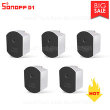 3/5/10 PCS Itead Sonoff D1 Dimmer 433Mhz RF Controlled & Wi Fi Switch Adjust Light Brightness Work via eWeLink APP Google Home