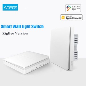 Aqara ZigBee Smart Light Wall Switches No Neutral Fire Wire light Remote Control work for mijia Mi Home APP(China)
