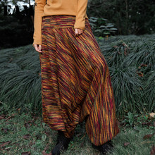 [EAM] High Elastic Waist Printed Long Big Size Wide Leg Trousers New Loose Fit Pants Women Fashion Spring Autumn 2019 JK606(China)