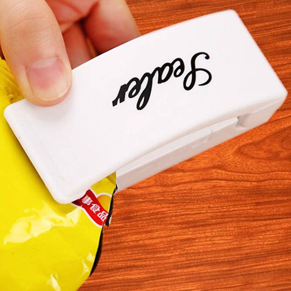 Mini Portable Package Handy Sealing Machines For Plastic Snacks Bags Cilps Heat Sealer Vacuum Resealer Kitchen Storage