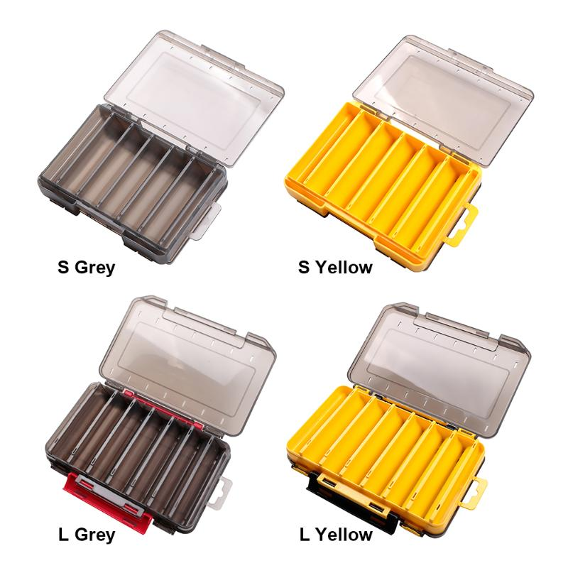 Portable Fishing Lure Box Double Side Artificial Bait Case Organizer Lure Fishing Tackle Fishing Equipment Accessories