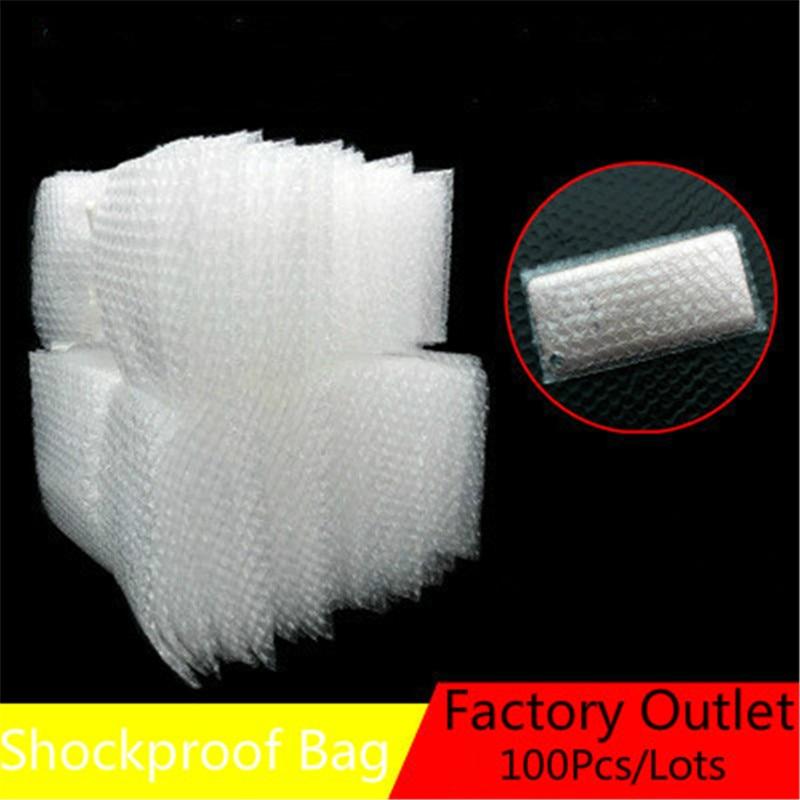 100pcs/Lots Kunststoff Blase Tasche Wrap Umschlag Weiß Blase Verpackung Taschen PE Klar Blase Tasche Stoßfest Tasche Doppel film 8 Größen