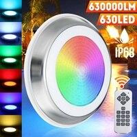 65W LED RGB Swimming Pool Lamp Waterproof IP68 Underwater Spotlight Remote Control Pond Lights DC12V 630SMD Fountain Lighting
