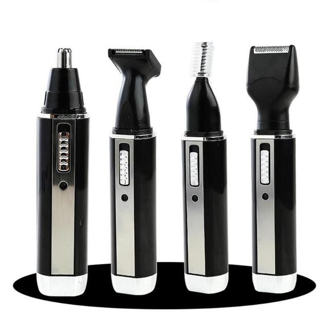 4 in 1 Nose Hair Trimmer Epilator Rechargeable Eyebrow Beard Shaver Razor Kit Face Care Tools