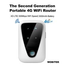 WOBITEK 4G Router Unlocked Lte Wifi Mini Wireless Portable Pocket Modem Mobile CAT4 MiFis Hotspot For Car With Sim Card Slot