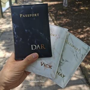 Customize Name Passport Cover Travel Wallet Mr/Mrs Covers for Passports Travel Document Organizer Black Passport Holder Case