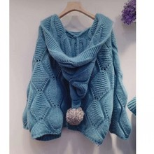 Tops Women Sweaters Cardigan Button-Jacket Sleeves V-Neck Knit Winter Casual New Autumn