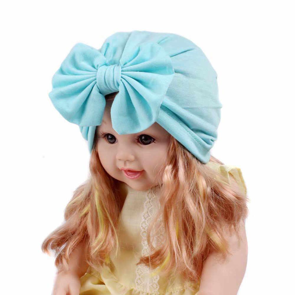 Baby Hat Caps Winter Children Baby Girls Boho Hat Beanie Scarf Turban Head Wrap Cap Dropshipping шапка детская ##0
