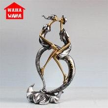 قبلة تمثال لزوجين الراتنج handcarshift عشاق تمثال تمثال ديكور المنزل التصميم الأصلي الحب الحرف اليدوية للمنزل مكتب