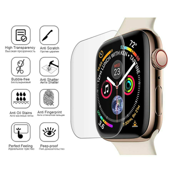 3D Full Curved Soft Tempered PET for Apple Watch Series 5 4 Ultra-thin Screen Protector for iWatch 38 40 42 44mm Not Glass 2