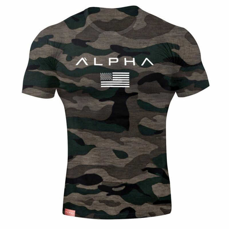 2018 hombres militar ejército camiseta 2017 hombres estrella suelta algodón camiseta o-cuello Alpha América tamaño camisetas de manga corta