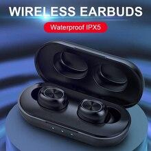 B5 TWS 5.0 Bluetooth אלחוטי אוזניות מגע בקרת 6D סטריאו אוזניות בס דיבורית אוזניות עם מיקרופון טעינת תיבה