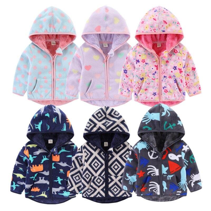 Детское пальто для девочек, зимняя ветрозащитная детская верхняя одежда с длинными рукавами и рисунком для маленьких мальчиков, яркие цвет...