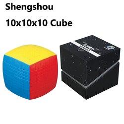 Новейшая Магическая головоломка 10x10 Shengshou 10x10x10 скоростной куб без наклеек 85 мм профессиональные игрушки высокого уровня для детей