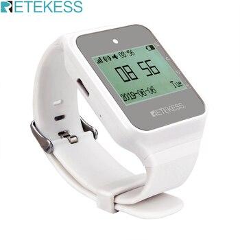 Retekess TD108 receptor de reloj inalámbrico 433MHz Multi-idioma buscapersonas camarero sistema de llamadas restaurante buscapersonas servicio al cliente
