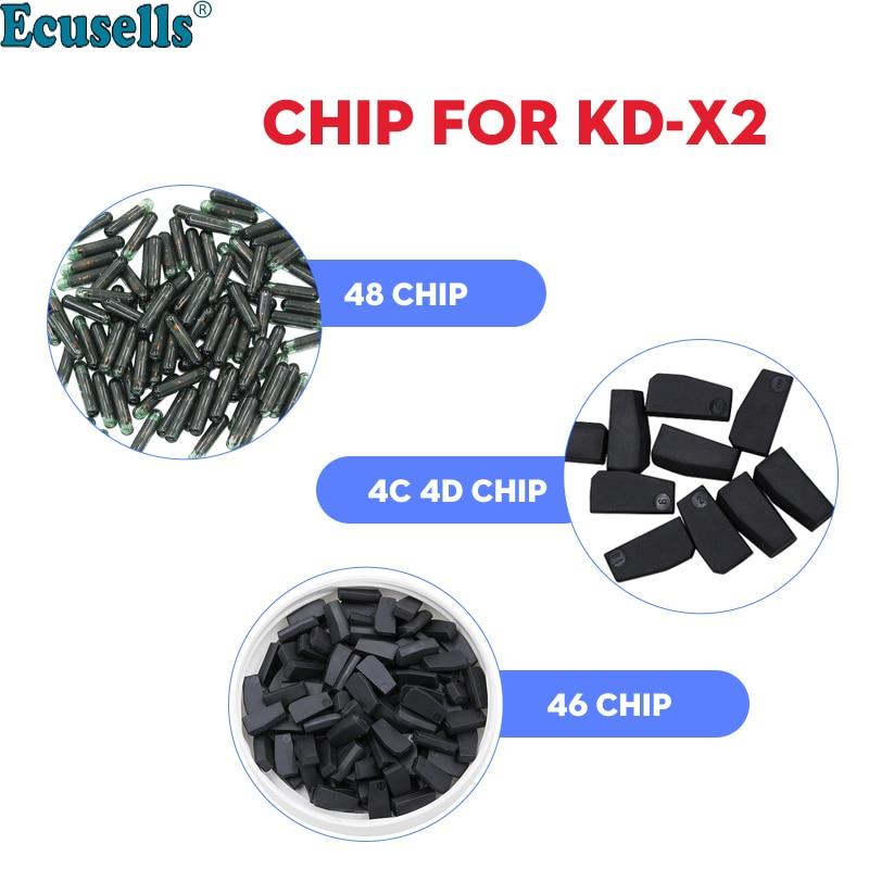 10 шт./лот Высокое Качество KD 4C 4D 46 и 48 копия клон чип транспондер специально для KEYDIY Φ KD X2 ключевой программатор Cloner