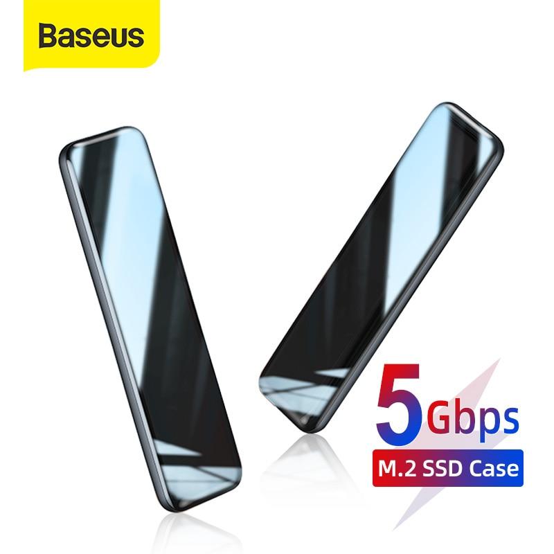 Baseus M2 SSD Case M.2 To USB Type C 3.0 Enclosure SSD Hard Drive For NGFF SATA B/M+B KEY SSD Disk Box SSD Caddy