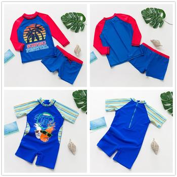 Boys' Long-Sleeve Blue Swimwear