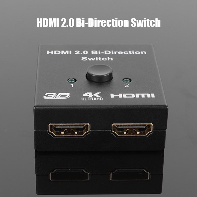 Smart Bi-Direction HDMI Switcher 2 Input To 1 Output Audio Cable HDMI Splitter With Wide Scope Of Application Simplicity