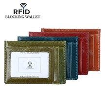New Mens RFID Blocking Credit Card Holder PU Leather Slim Anti-chief Fashion Vintage