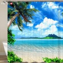 3d занавеска с морским пейзажем домашний декор водонепроницаемая